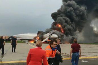 Появилось новое видео авиакатастрофы в Шереметьеве