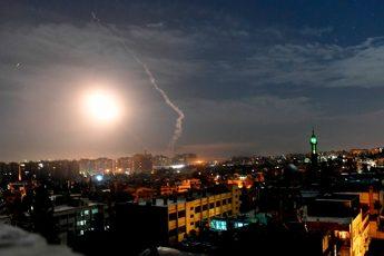 Появилось видео ракетной атаки на Дамаск